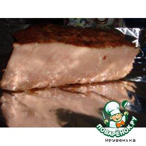 Рецепт: Мясо в луковой шелухе