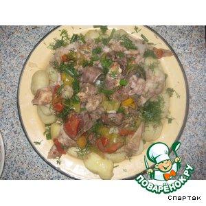 Рецепт: Фаршированный желудок барашка Жау-буйрек