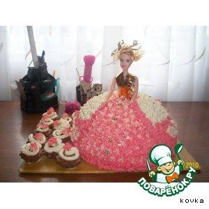 """Рецепт: Торт """"Кукла Барби"""""""