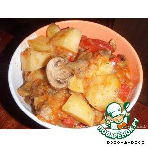 Тушеный картофель с грибами – кулинарный рецепт