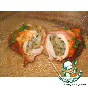 Рецепт: Куриные кармашки с грибами