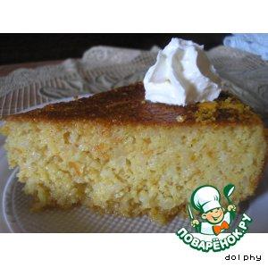 Рецепт: Торт с целыми апельсинами, миндалем и сиропом из десертного вина