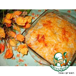 Рецепт: Картофельная запеканка с куриным фаршем