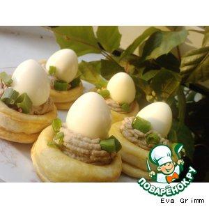 Рецепт: Закуска Перепелиное гнездышко