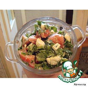 Салат из шпината и феты