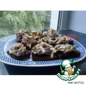 Рецепт Бутерброды с яблоками  и сельдью