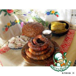 Рецепт: Деревенская пальцемпханная колбаса
