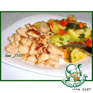 Рецепт: Куриная грудка по мотивам турецкой кухни