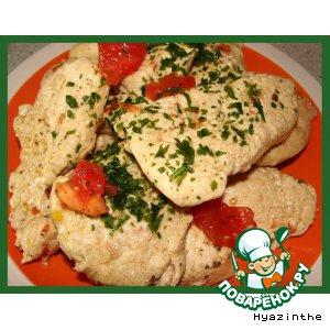 Рецепт: Холодная закуска из маринованной куриной грудки