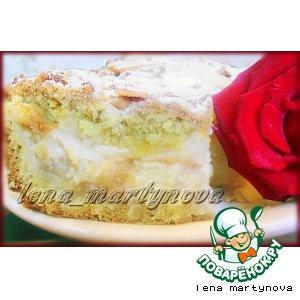 Рецепт: Яблочный пирог с пудингом
