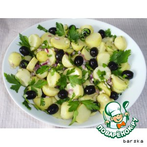 Рецепт: Картофельный салат с маслинами