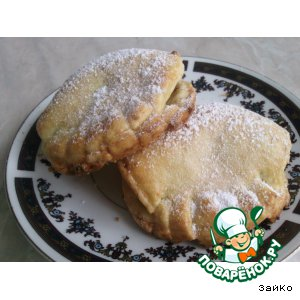 Рецепт: Пирожки с яблоком