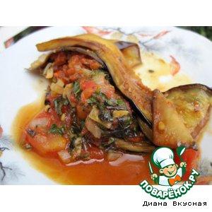 Рецепт: Баклажаны в томатном соусе