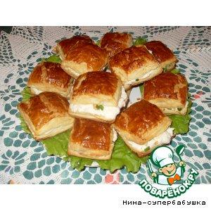 Рецепт: Закусочные пирожные Наполеон