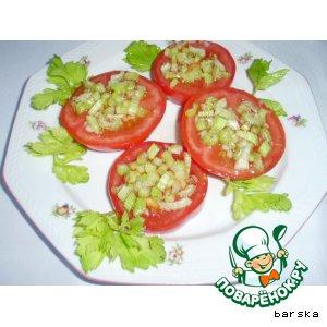 Рецепт: Помидоры, маринованные сельдереем