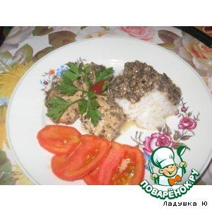 Рецепт: Куриная грудка с грибами