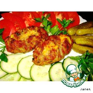 Рецепт: Мясные зразы гриль с сыром Оригинальные
