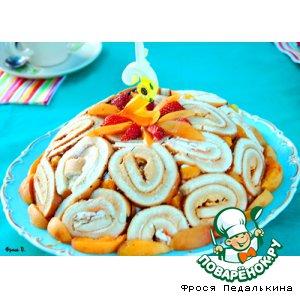 Рецепт: Торт-шарлотка с фруктами