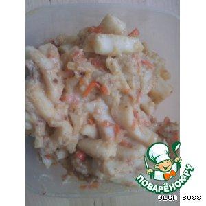 Рецепт: Кальмар в сметанно-сырном соусе