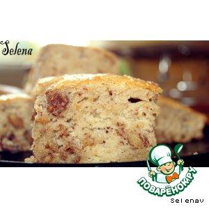 Рецепт: Пирог с грецкими орехами и коньяком