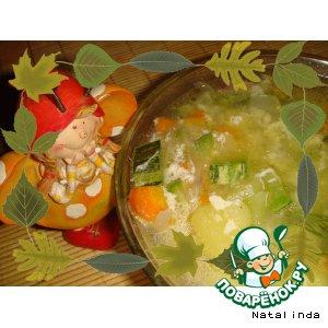 Рецепт: Суп из кабачка Витаминка