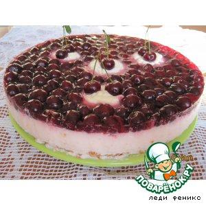 Рецепт: Вишнево-йогуртовый торт