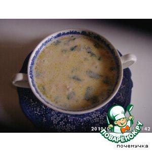 Рецепт: Сырно-креветочный суп