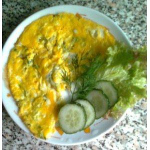Рецепт: Яичница с кабачками