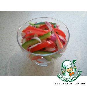 Рецепт: Салат В розовых тонах