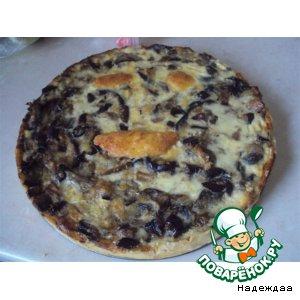 Рецепт: Пирог с баклажанами и грибами