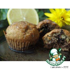 Рецепт Бананово-шоколадный кекс с орехами и лимонной глазурью