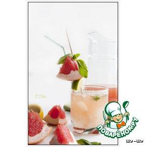 """Рецепт: Коктейль """"Мятный бриз"""" с грейпфрутом"""