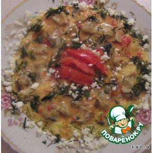 Рецепт: Кукурузная каша с грибной подливкой
