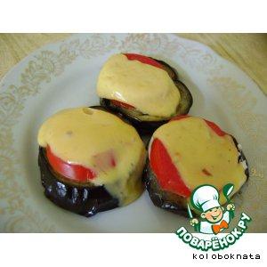 Рецепт: Баклажаны, запеченные с помидорами и сыром