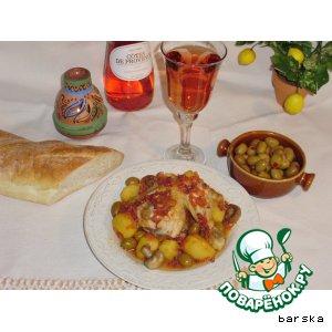 Рецепт: Курица с оливками по-корсикански