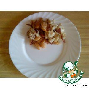 Рецепт: Закуска с морским языком и фасолью