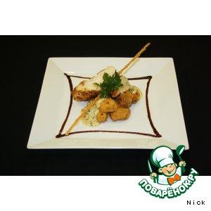Рецепт: Куриная грудка в стружке из тунца