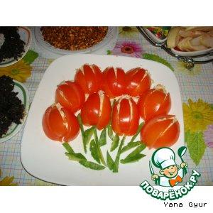 """Рецепт: Салат-закуска """"Тюльпаны"""""""