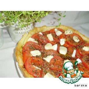 Рецепт: Тарт из помидоров и брынзы