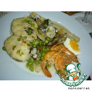 Рецепт: Мерлуза в зеленом соусе/merluza en salsa verde