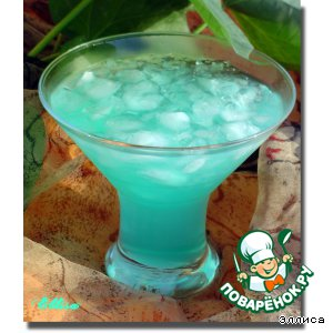 Фото: Голубой коктейль