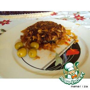 Рецепт: Рыбная солянка на сковородке