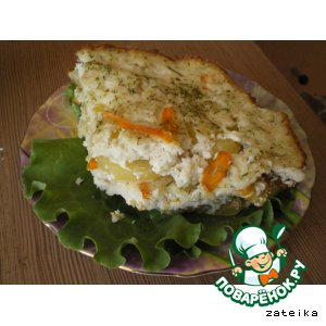 Рецепт: Запеканка из хека с картошечкой