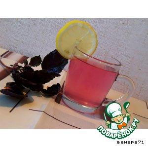 Рецепт: Холодный базиликовый чай