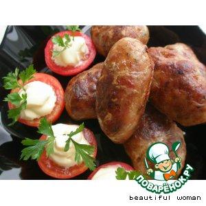 Рецепт: Свиные колбаски
