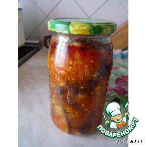Рецепт: Баклажаны в томатном соке
