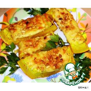 Рецепт: Тыква, запеченная с сыром и кедровыми орешками