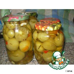 Рецепт: Маринованные зелeные помидоры