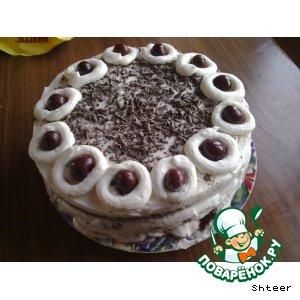 Рецепт: Шварцвальдский вишневый торт Черный лес