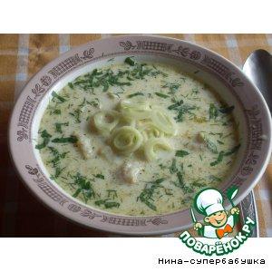 Рецепт: Сливочный рыбный суп
